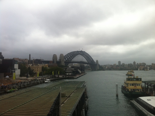View of the Harbour Bridge from Circular Quay