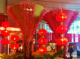 Lanterns in Changi airport