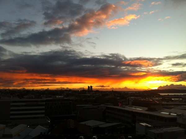 amazing auckland sunset