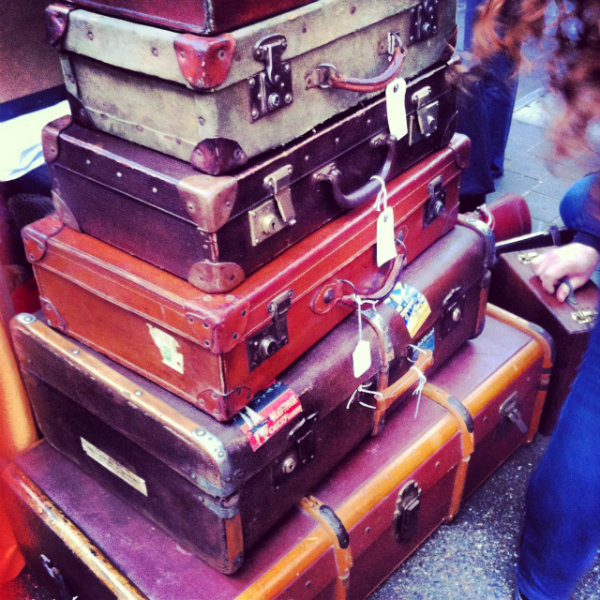 Vintage Luggage Spitalfields Market London
