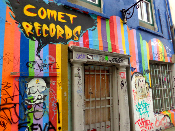 Comet Records street art, Dublin