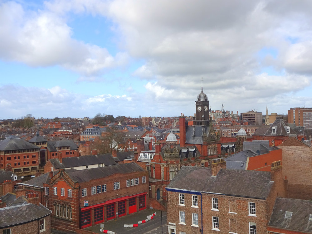 view from Clifford Tower, York