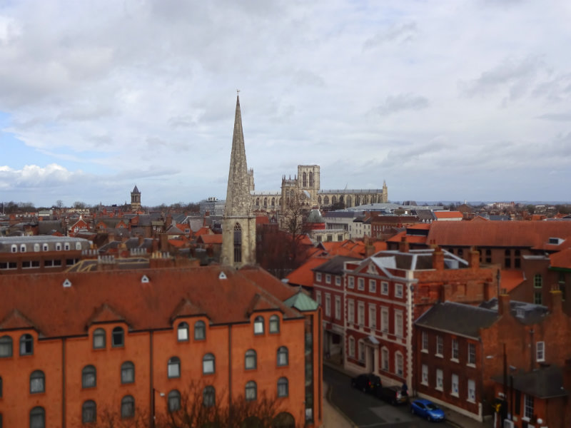 view from clifford tower york