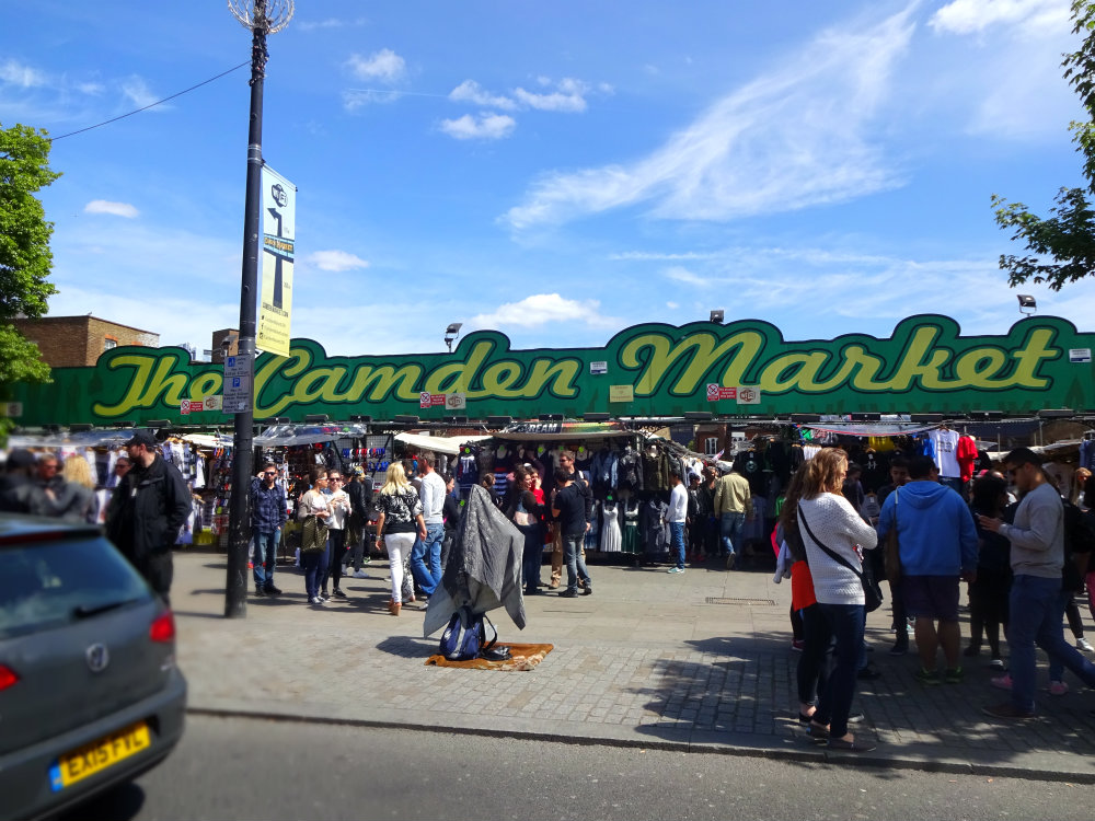 Playing tourist with travel friends at camden market for The camden