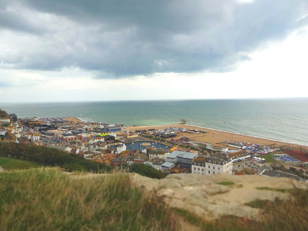 view over Hastings