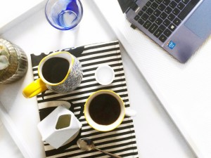 newsletter and coffee