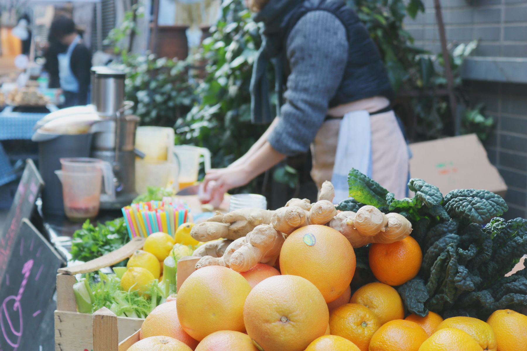 juice stall, Maltby street market
