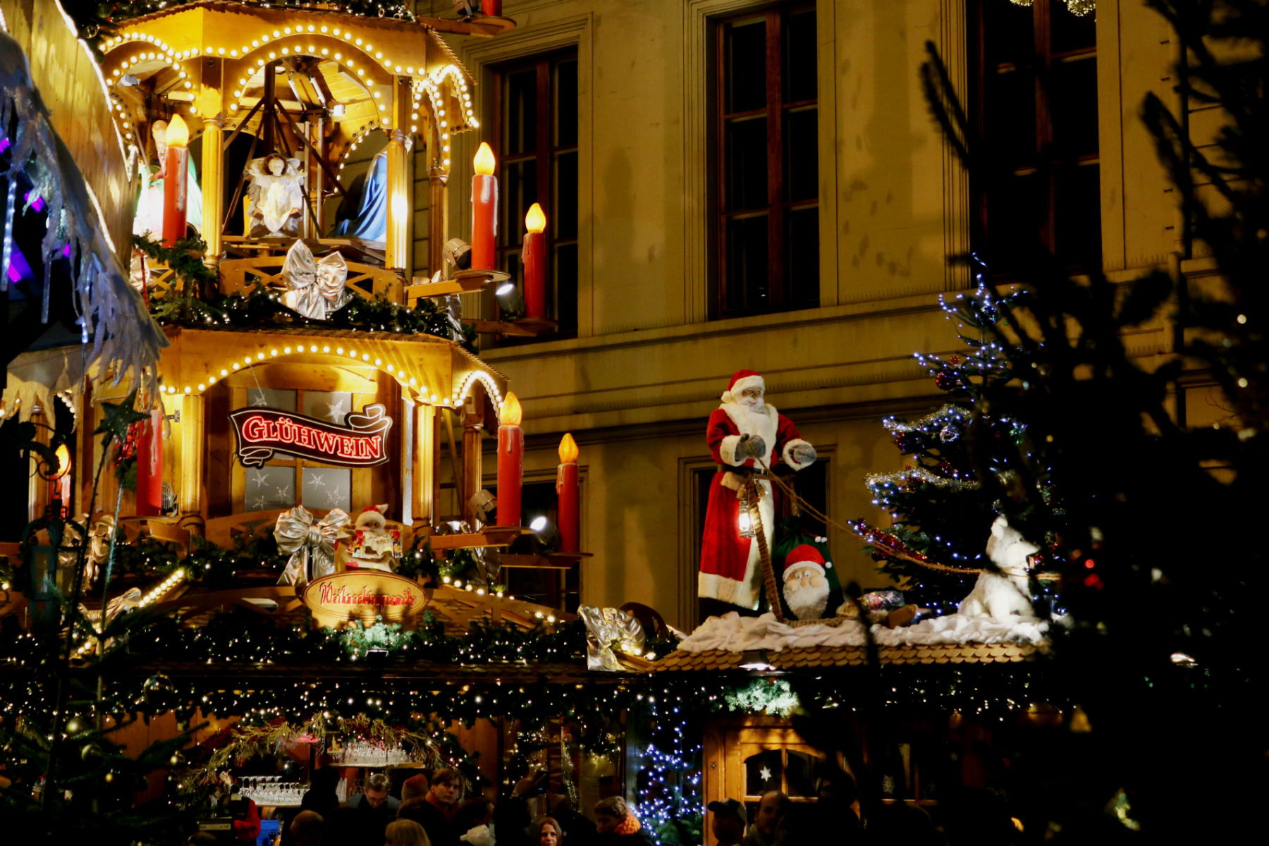 Basel Christmas markets at night