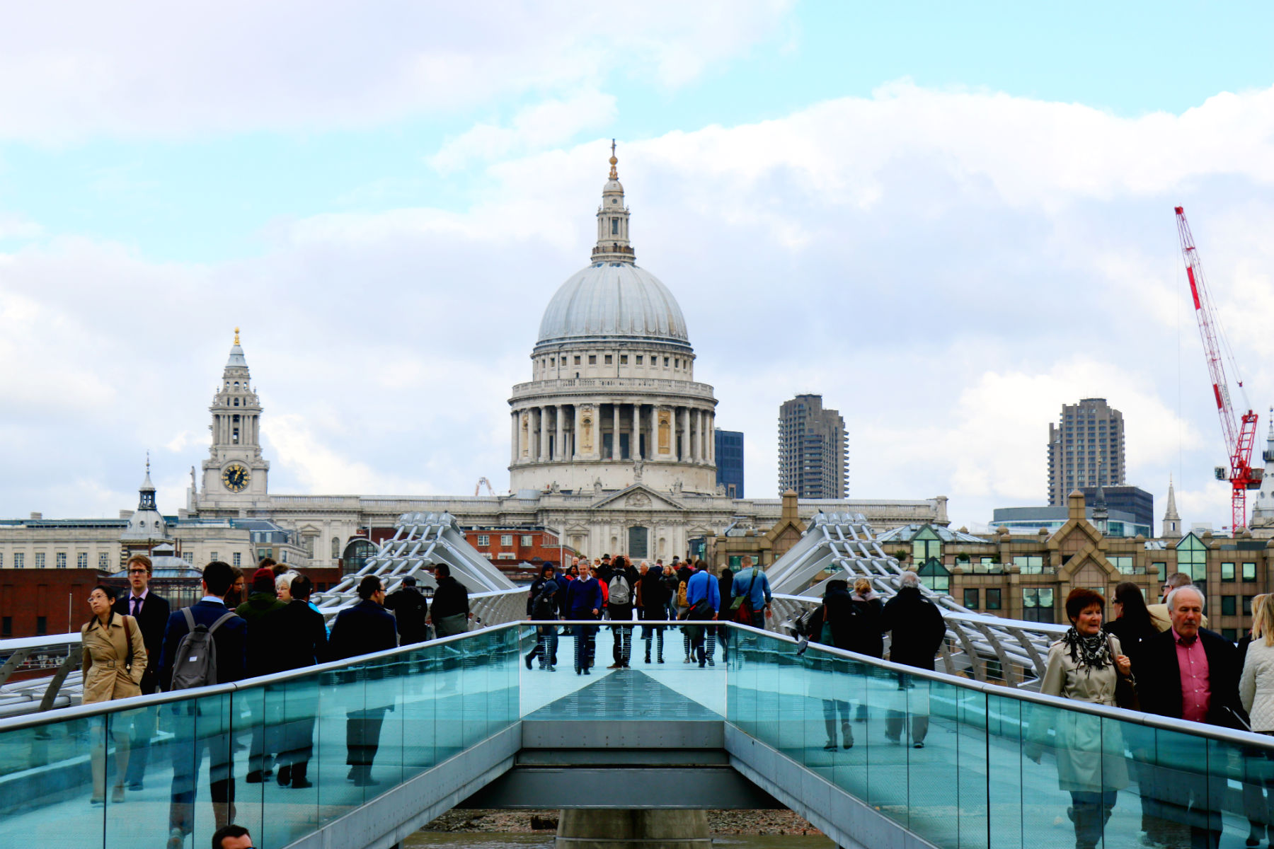 St Paul's Cathedral, as seen from Millennium Bridge, London