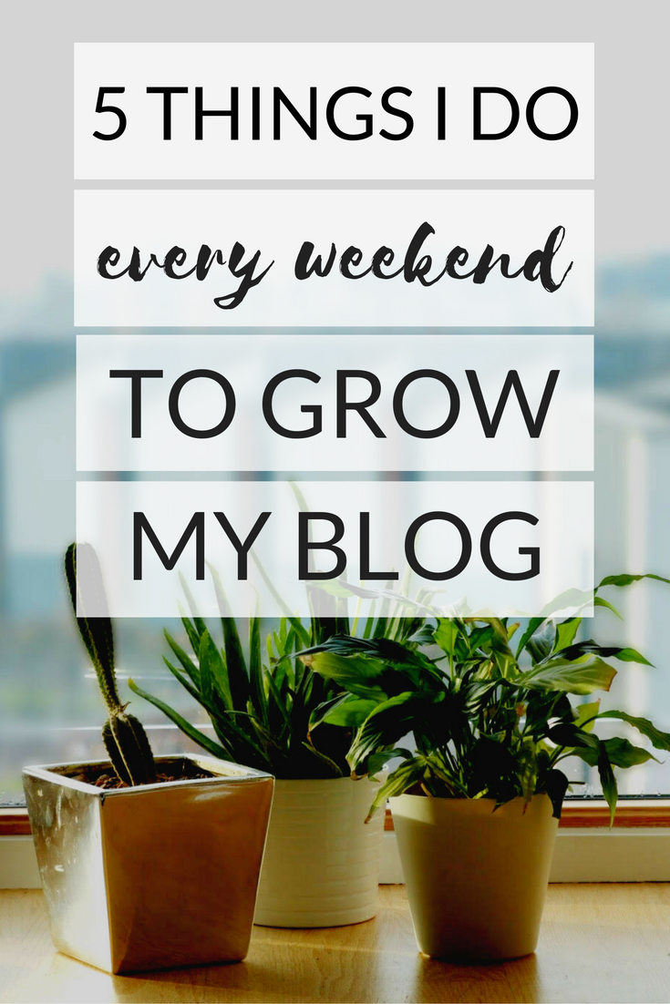 5 Things I Do Every Weekend To Grow My Blog
