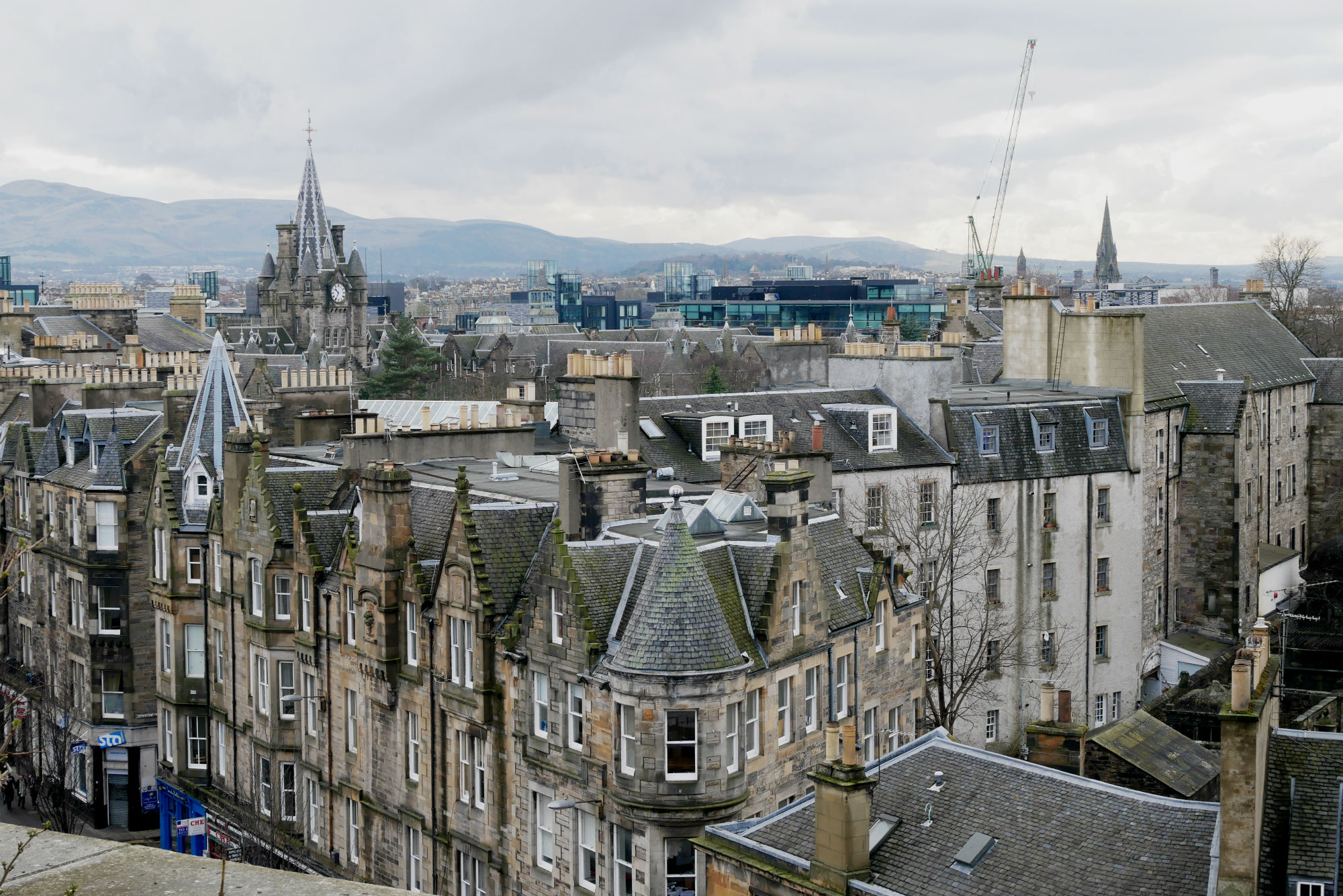 Views over Edinburgh,