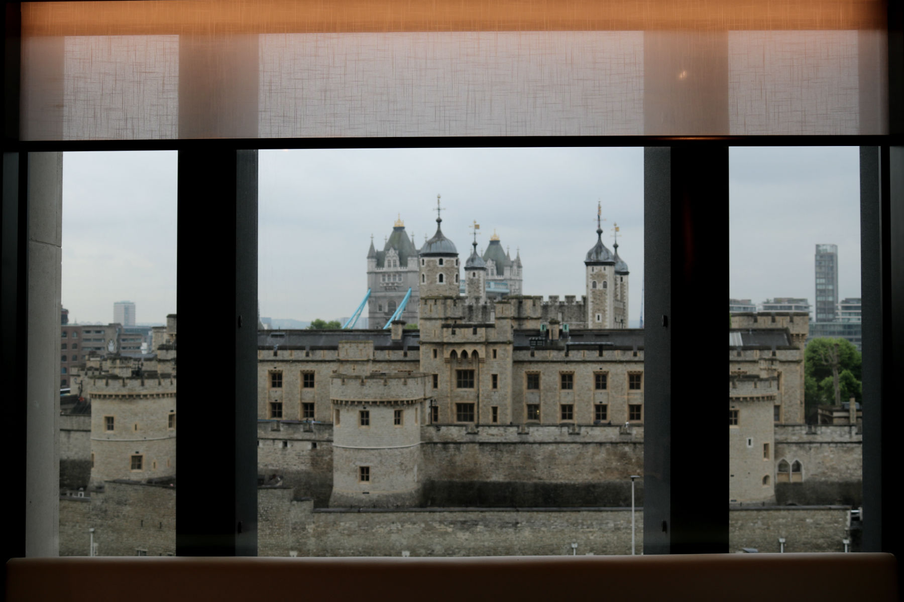 View of the Tower of London from Citizen M