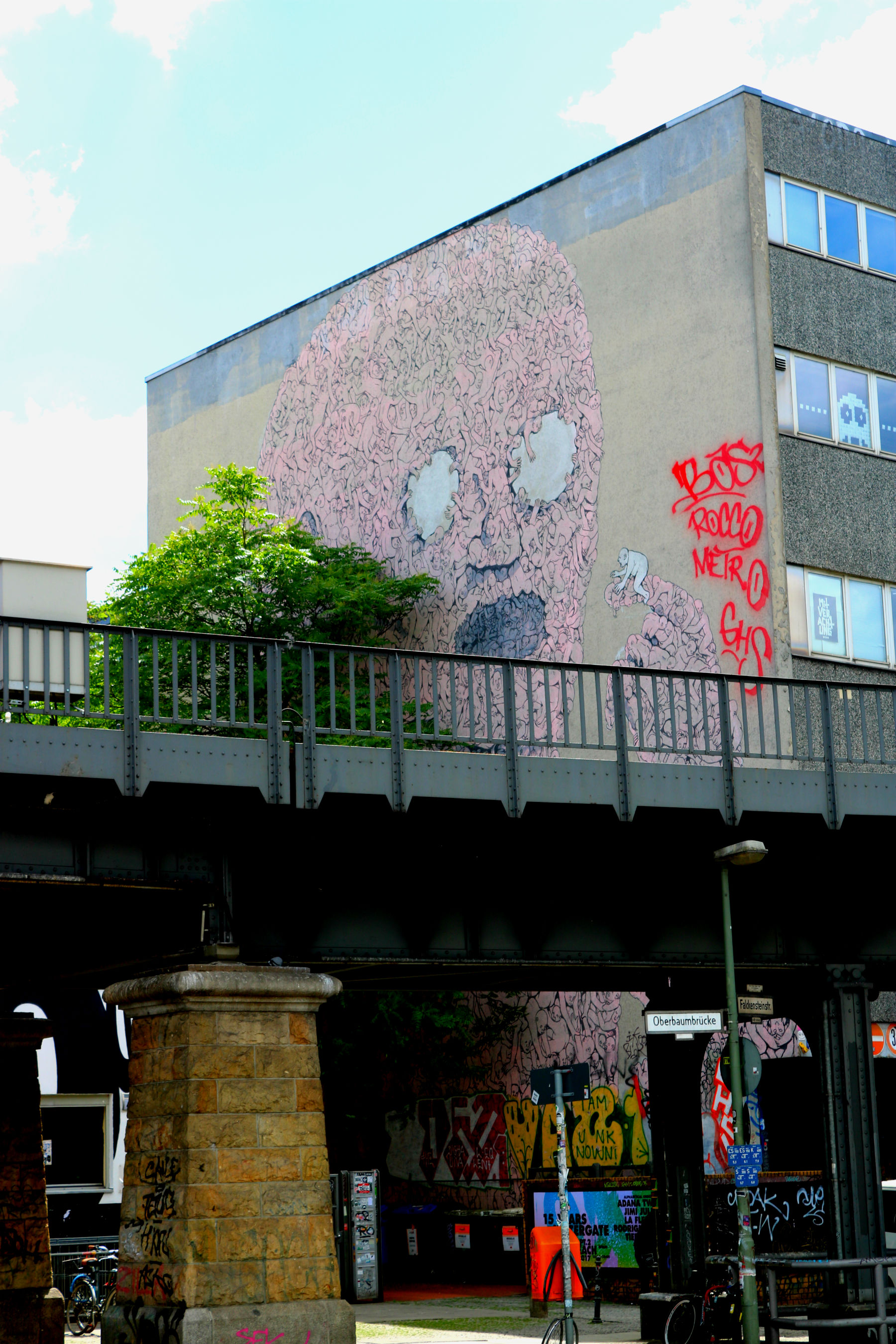 The Pink Man Blu Oberbaum Bridge Kreuzberg