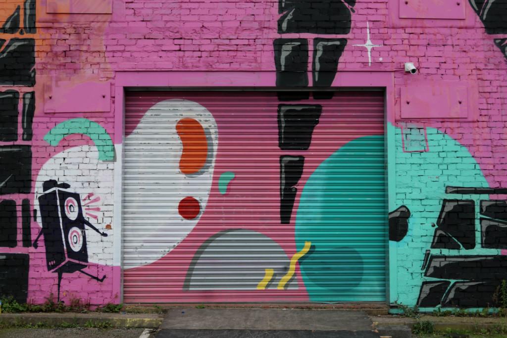 Street art in Digbeth Birmingham
